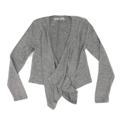 Sweet As Sugar Couture Knit Flyaway Shrug - Gray - Top