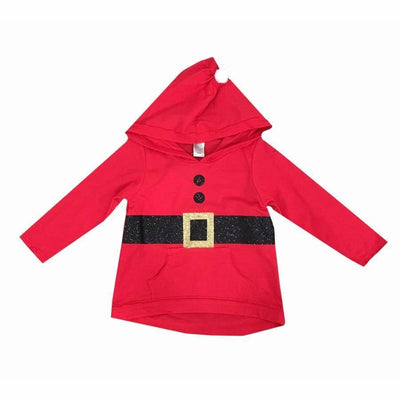 Sweet As Sugar Couture Mr. Clause Hooded Top - Top