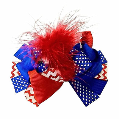 Sweet As Sugar Couture Patriotic Hair Bow - Accessory