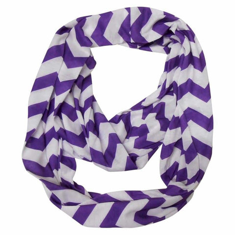 Sweet As Sugar Couture Purple Chevron Infinity Scarf - Purple Chevron - Accessory
