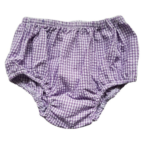 Sweet As Sugar Couture Purple Gingham Bloomer - 6-12M - Bottom