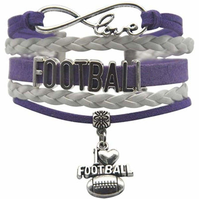 Sweet As Sugar Couture Purple Pride Football Bracelet - OSFM - Jewelry