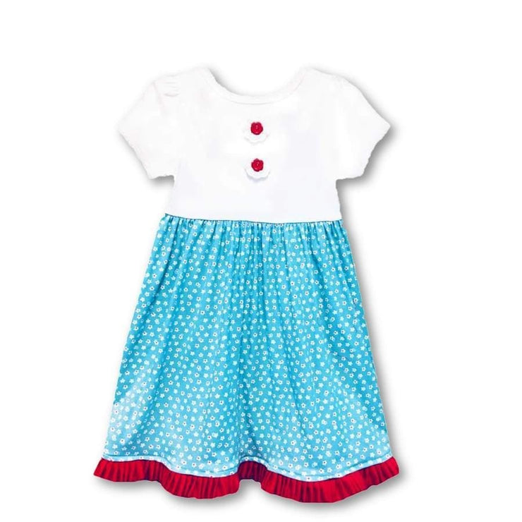 Sweet As Sugar Couture Red Daisy Dress - 5Y - Dress
