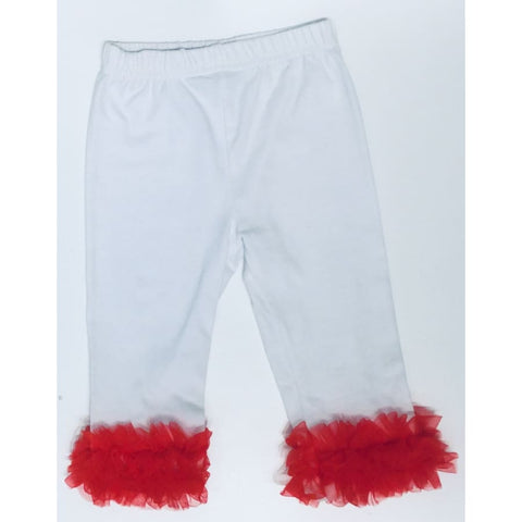 Sweet As Sugar Couture Red Tutu Ankle Legging - 3-6M - Bottom