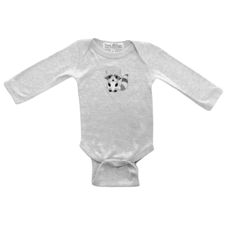 Sweet As Sugar Couture Ricky Raccoon Onesie - 0-3M - Top