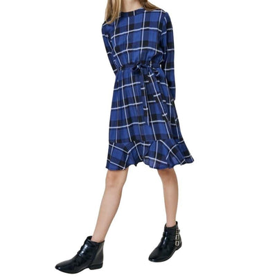 Sweet As Sugar Couture Royal Plaid Dress - Dress