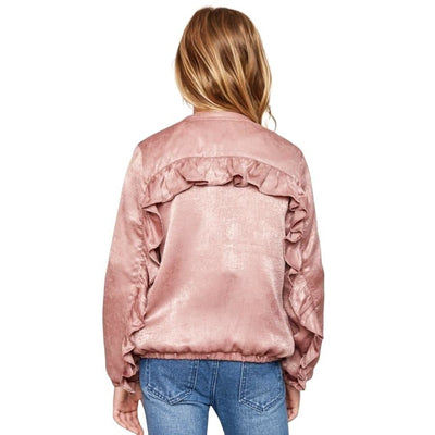 Sweet As Sugar Couture Ruffle Bomber Jacket - 10 - Top