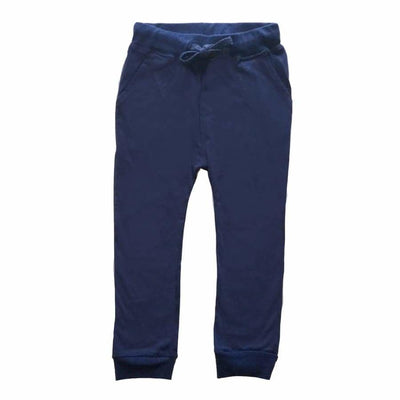 Sweet As Sugar Couture Solid Navy Blue Drawstring Jogger - 4T - Bottom