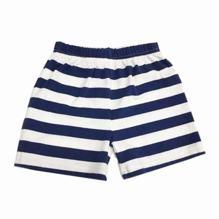 Sweet As Sugar Couture Striped Knit Pocket Short - Navy - 2Y - Bottom