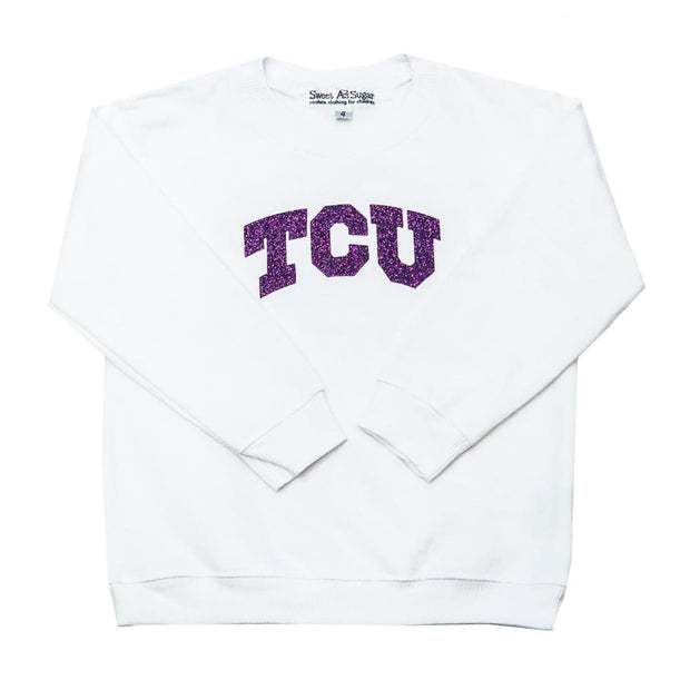 Sweet as Sugar Couture TCU White Crew - 2 - top