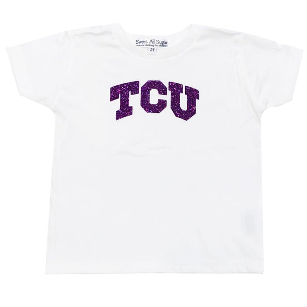 Sweet as Sugar Couture TCU White Toddler Tee - 2T - Top