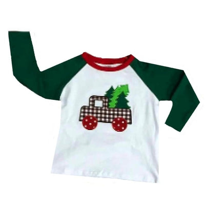 Sweet As Sugar Couture Tree Farm Raglan Tee - Top