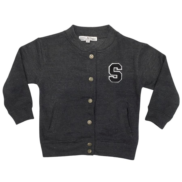 Sweet As Sugar Couture Varsity Blues Jacket - 2T - Top