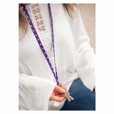 Viv & Lou Purple Dot Lanyard - Accessory