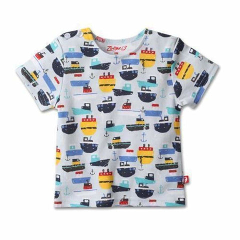 Zutano Ahoy Short Sleeve T-Shirt in Multi - Top