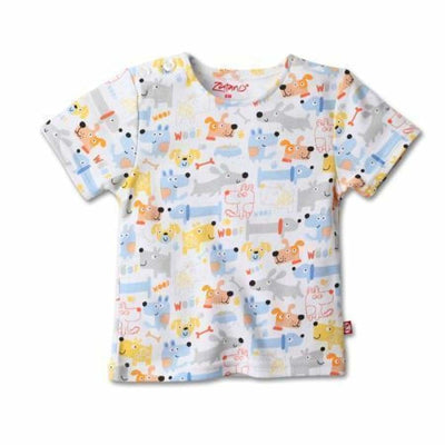 Zutano Puppies Short Sleeve T-Shirt - Top