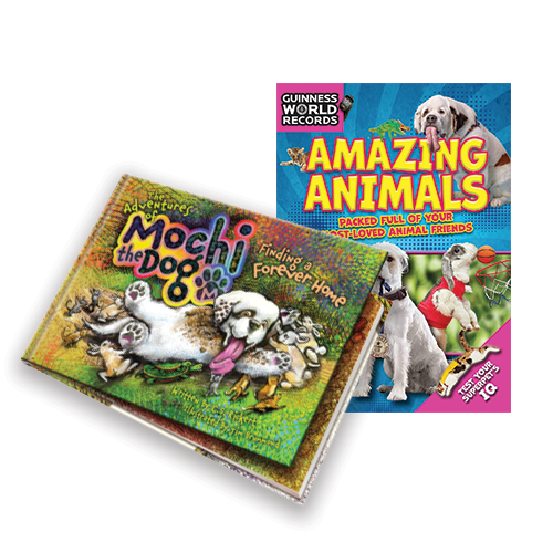 The Adventures of Mochi the Dog & Guinness World Records: Amazing Animals ® 2018 Book Bundle