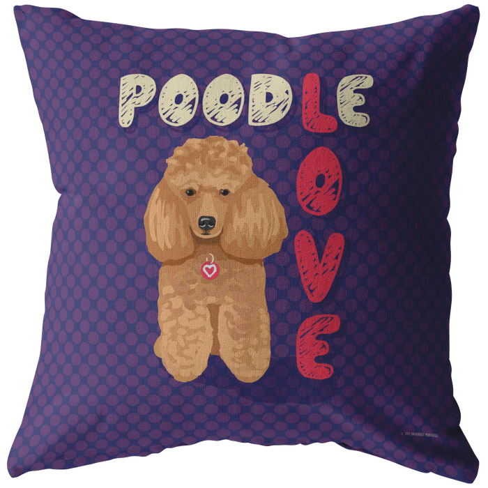 Poodle (Apricot Dog) Pillow