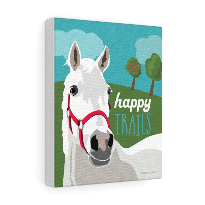 Happy Trails (white horse) Canvas Gallery Wrap