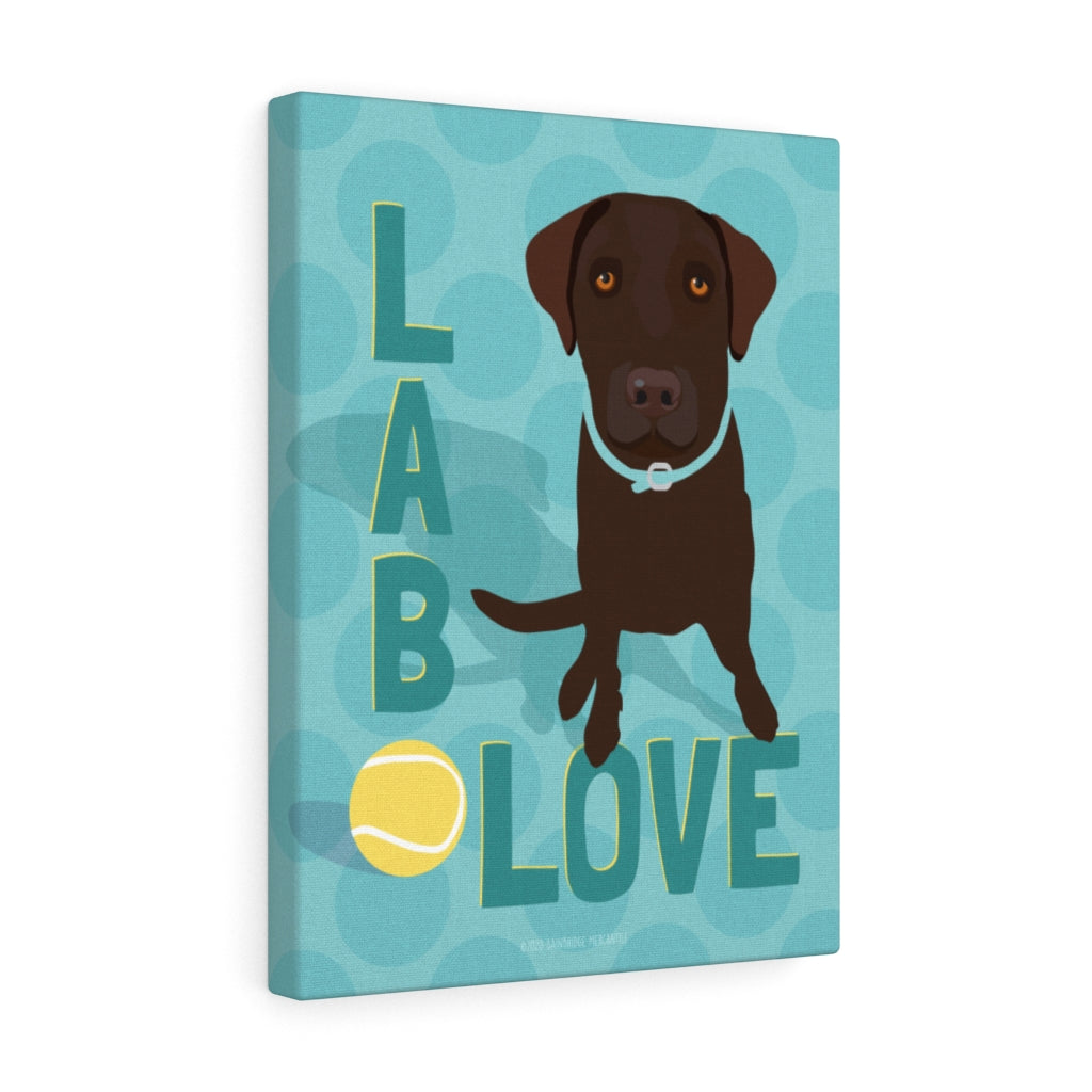 Chocolate Lab - Canvas Gallery Wrap