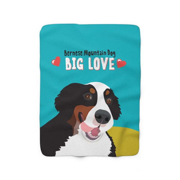 Bernese Mountain Dog Sherpa Fleece Blanket