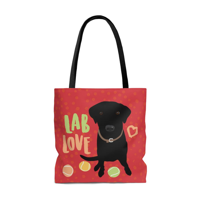 Lab (Black Dog) Tote Bag