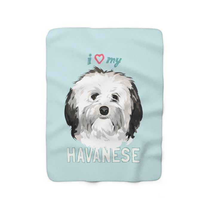 Havanese Sherpa Fleece Blanket