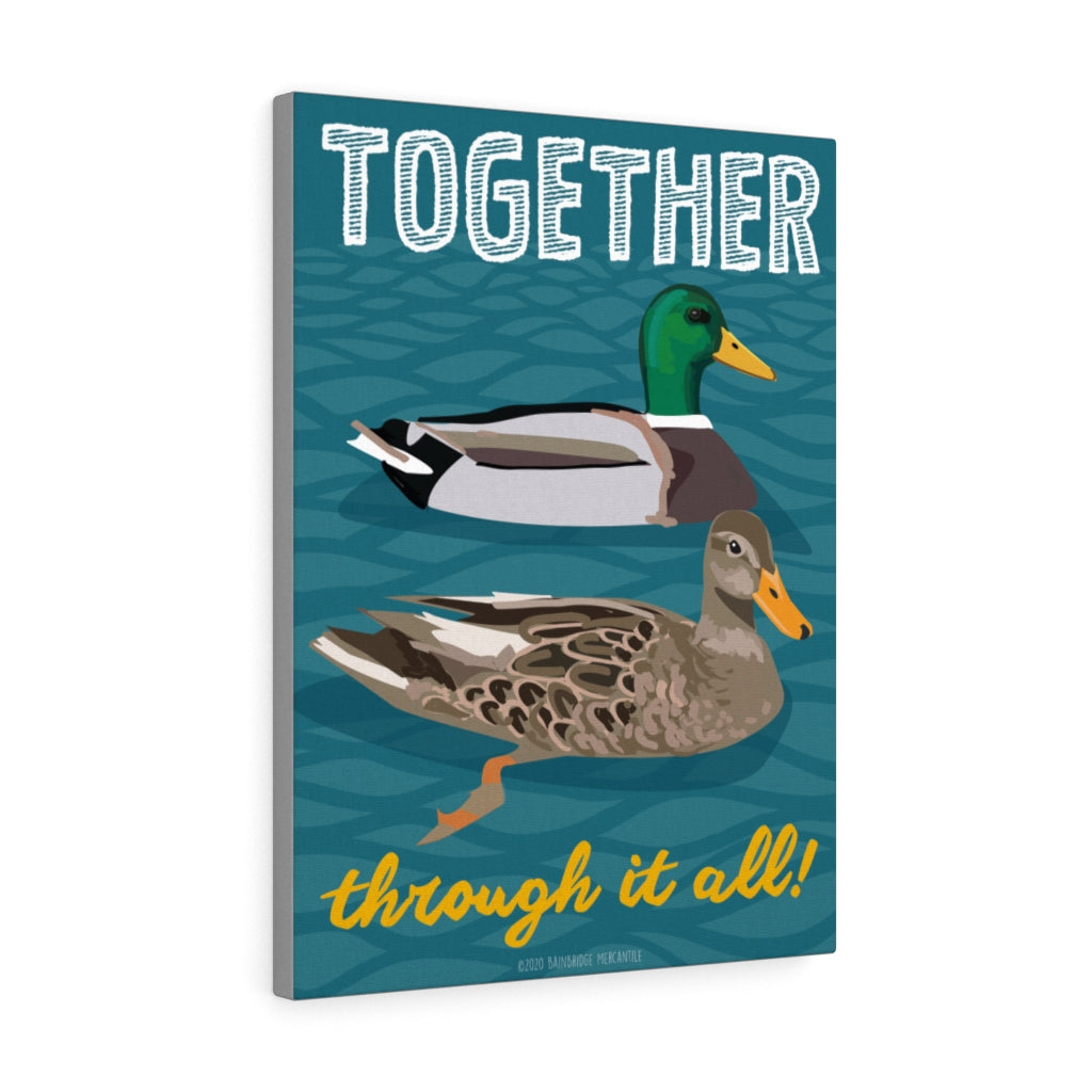 "Mallard Ducks ""Together Through It All"" Canvas Gallery Wrap"