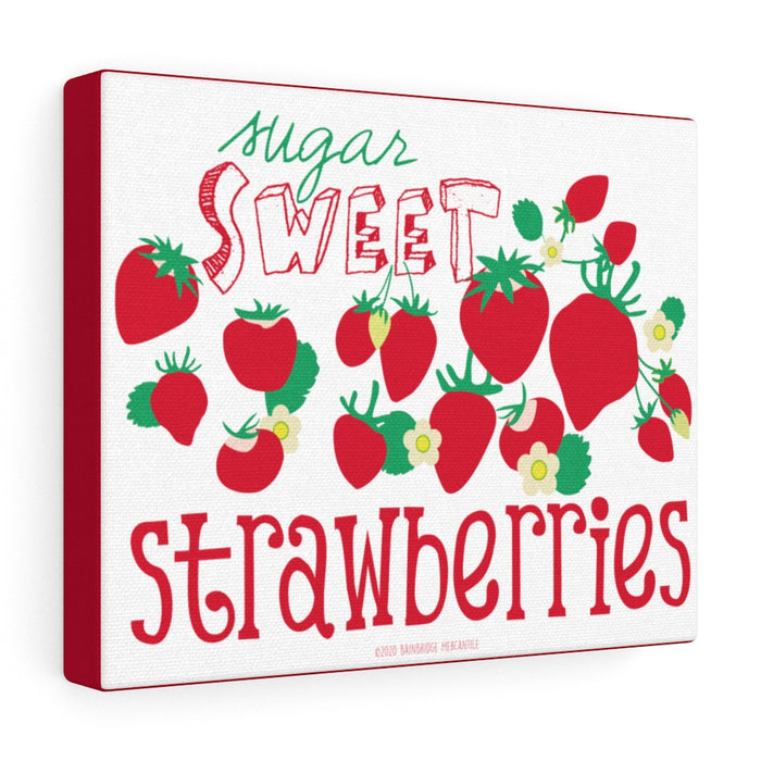 Sugar Sweet Strawberries Canvas Gallery Wrap