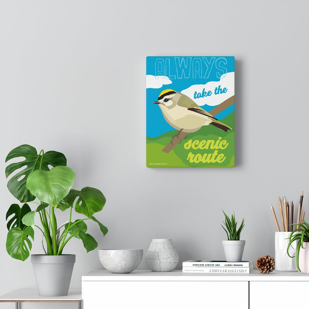 Always Take The Scenic Route Canvas Gallery Wrap