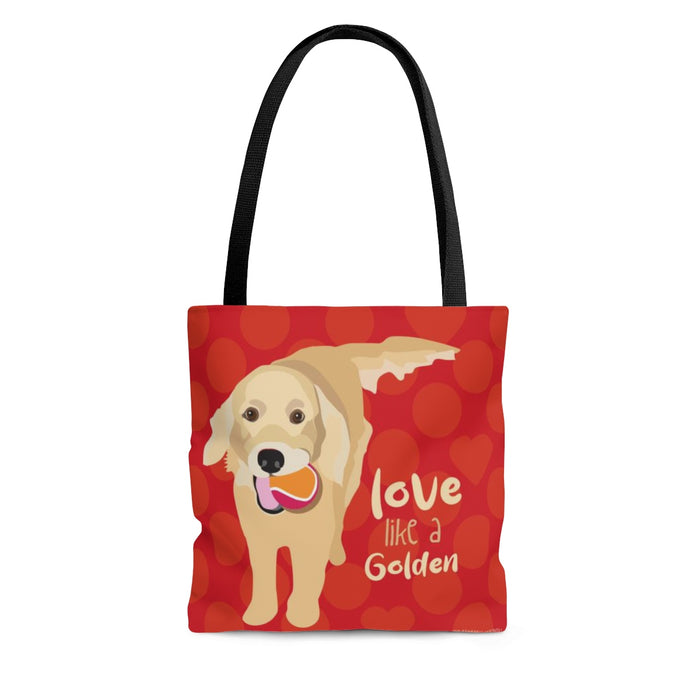 Golden Retriever Tote Bag