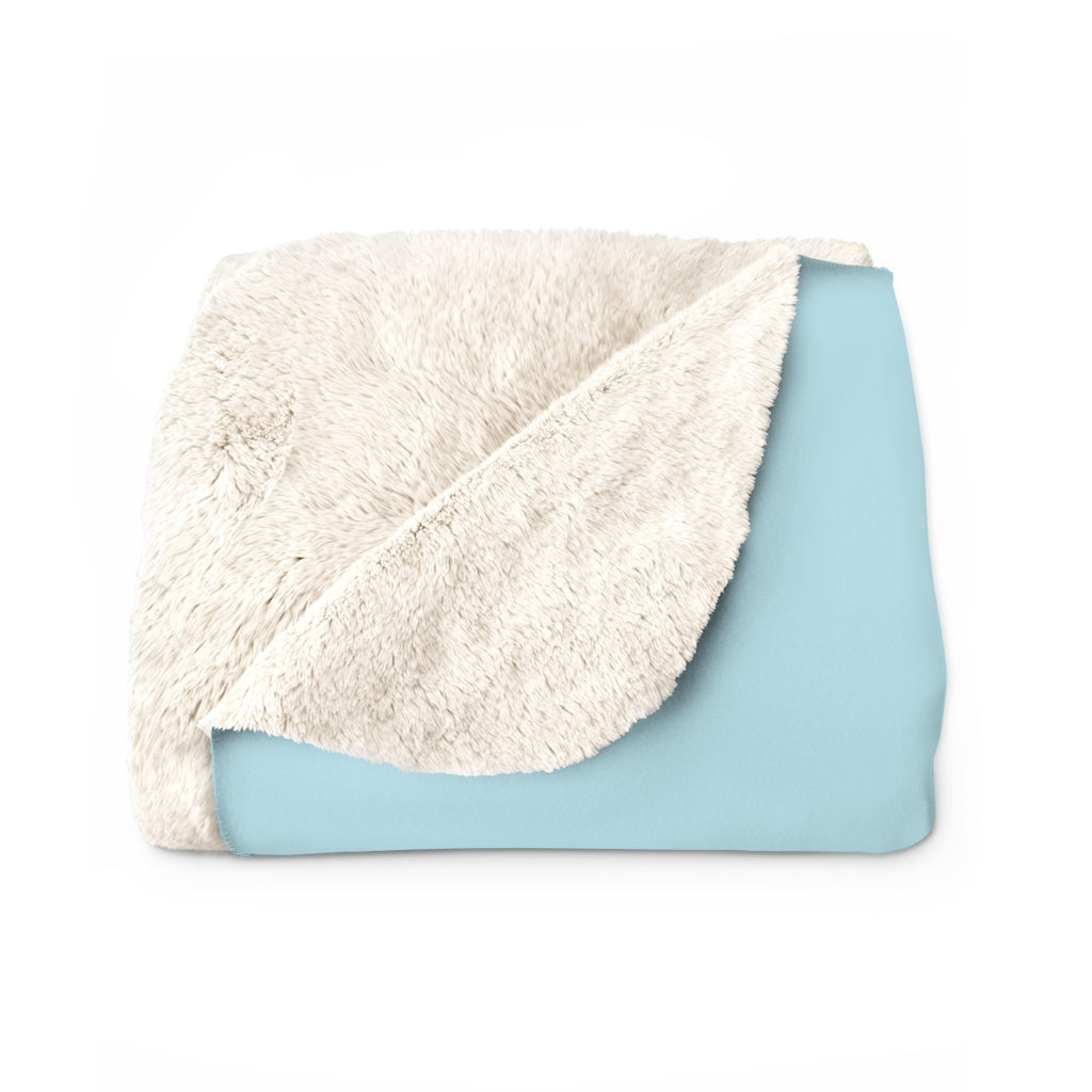 Happy Trails Sherpa Fleece Blanket
