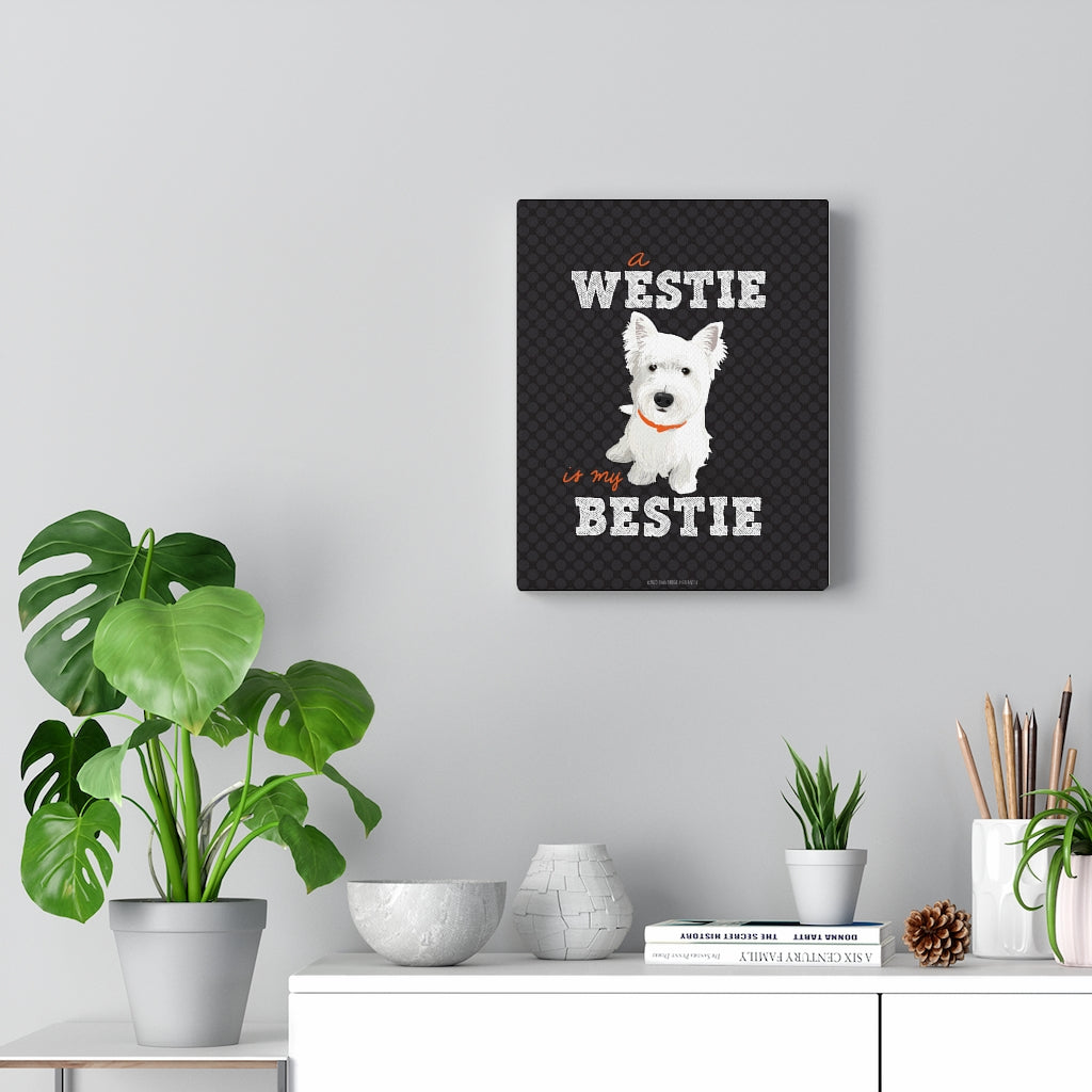 Westie Canvas Gallery Wrap