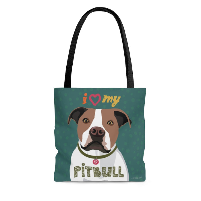 Pit Bull (Brown & White) Tote Bag