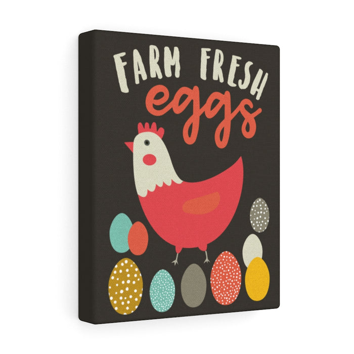 Farm Fresh Eggs Canvas Gallery Wrap