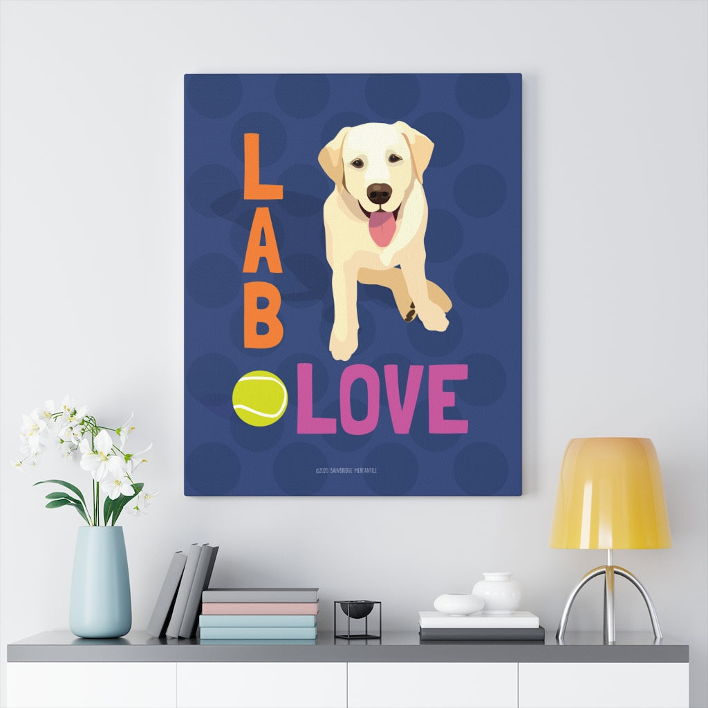 Yellow Lab- Canvas Gallery Wrap
