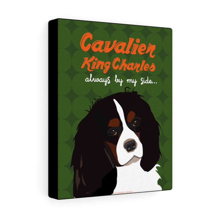 Cavalier King Charles (black & tan) Canvas Gallery Wrap