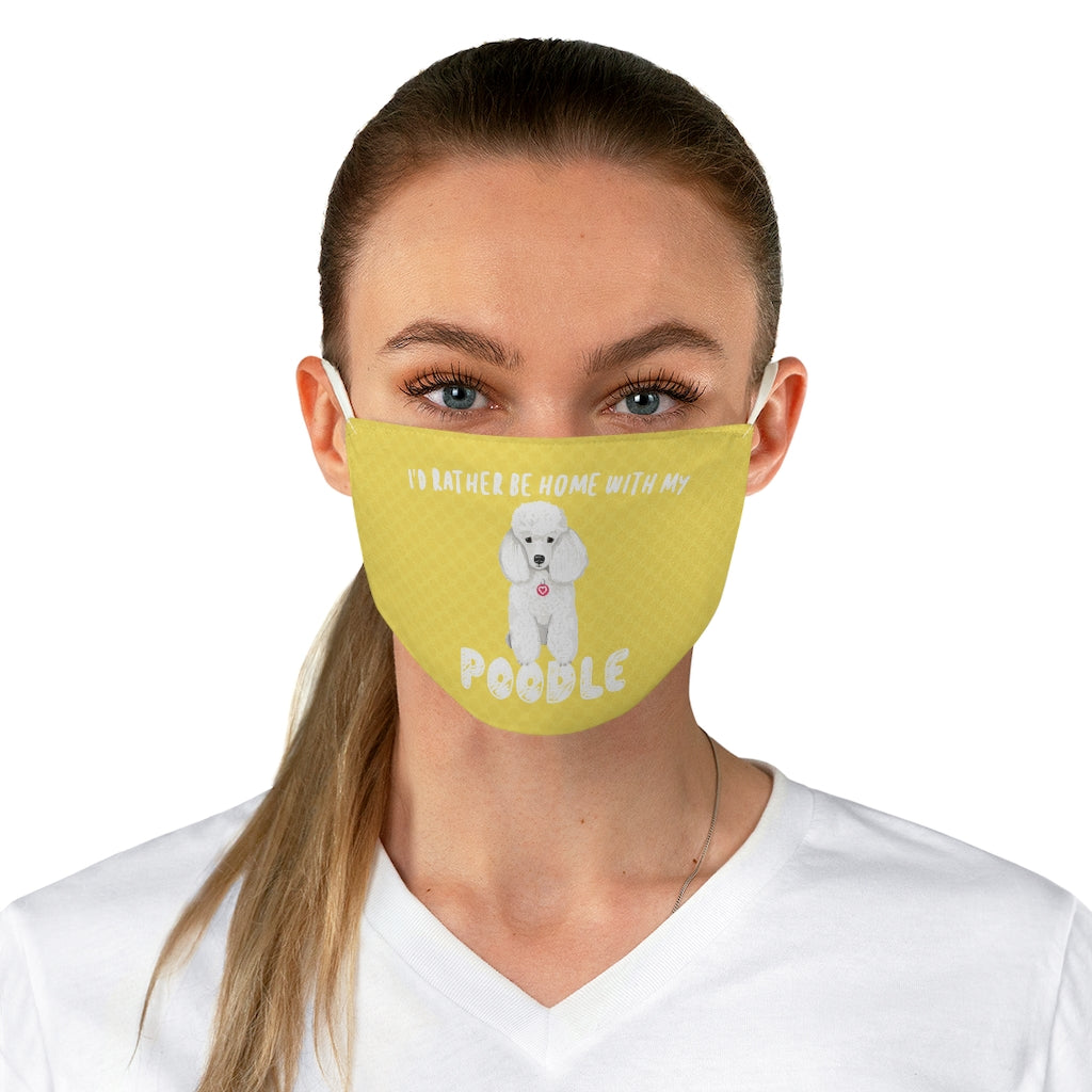 Poodle (White) Face Mask