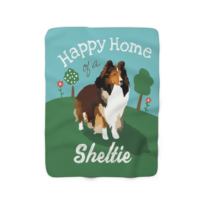 Sheltie Sherpa Fleece Blanket