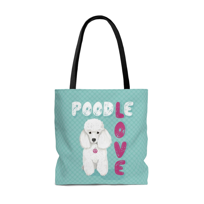 Poodle (White Dog) Tote Bag
