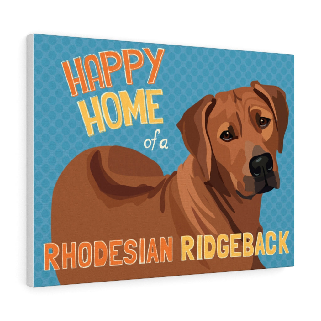 Rhodesian Ridgeback Canvas Gallery Wrap
