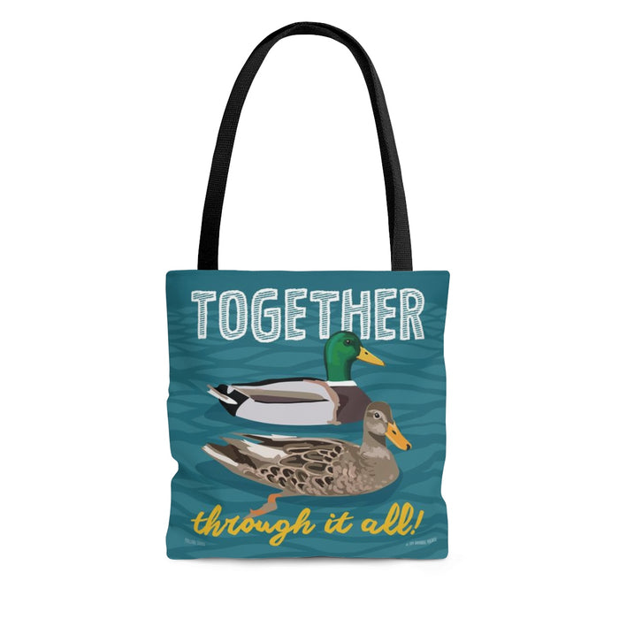 Together Through It All (Mallard Duck) Tote Bag