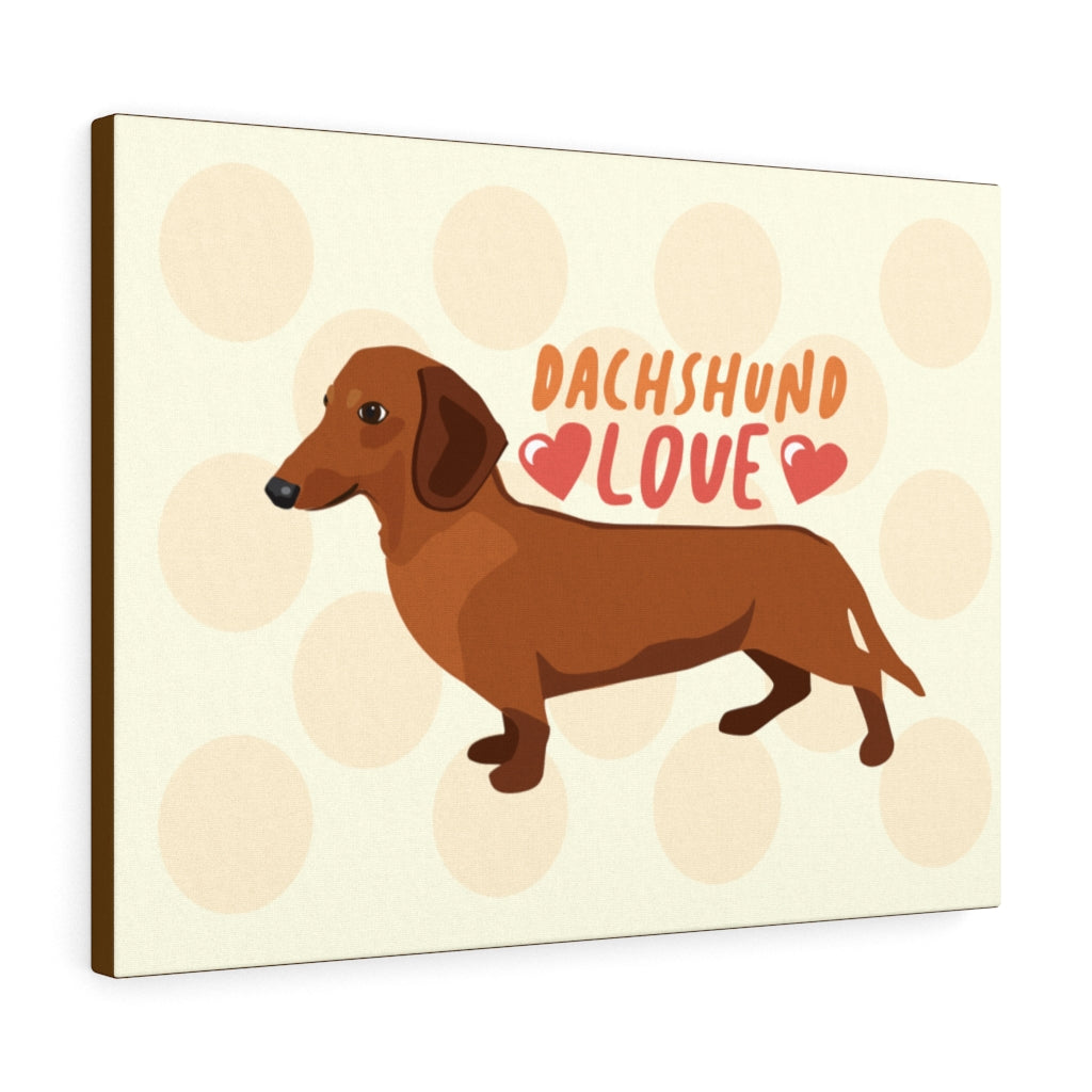 Dachshund (Red) Canvas Gallery Wrap