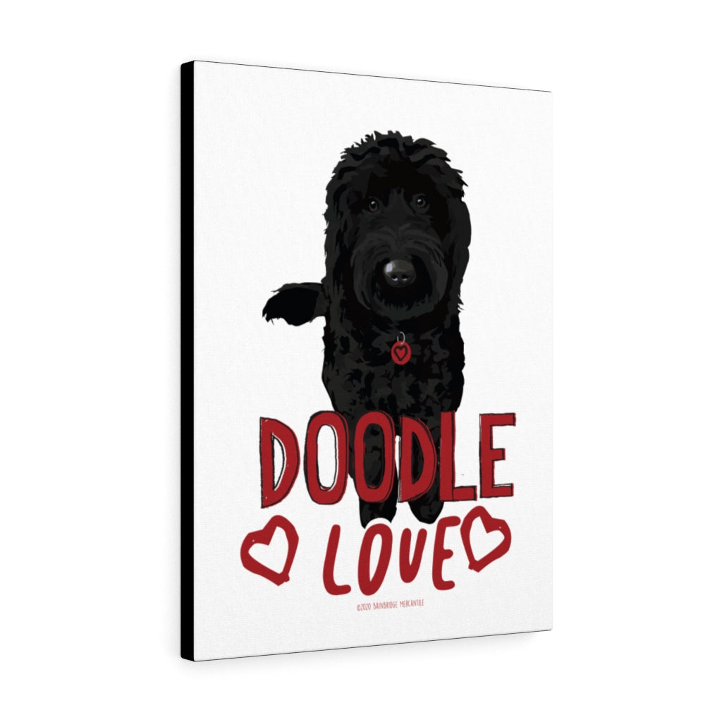 Doodle (black) Canvas Gallery Wrap