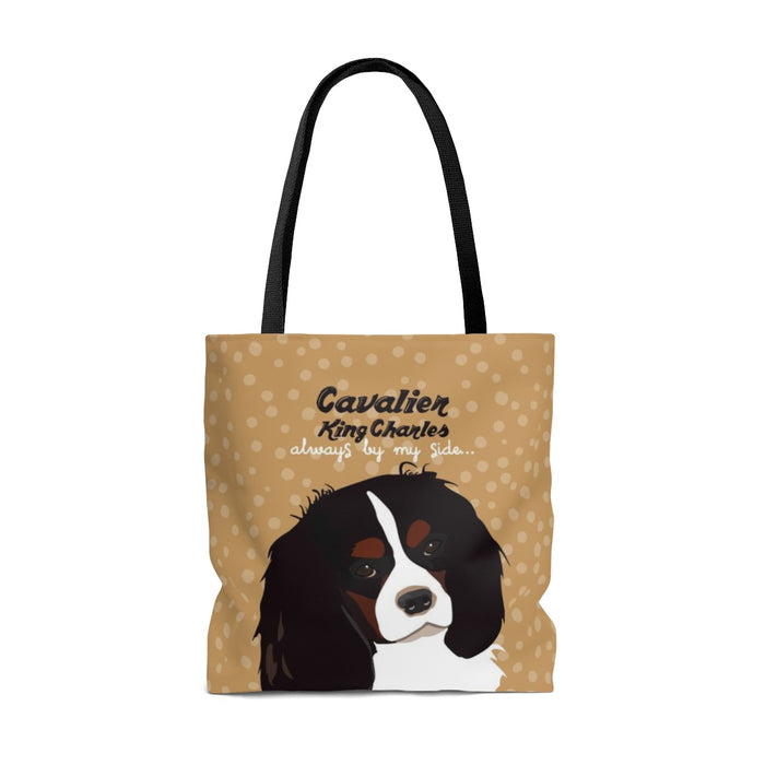 Cavalier King Charles (Black & Tan Dog) Tote Bag