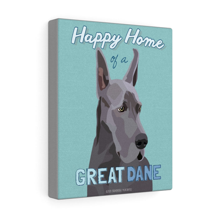 Great Dane (blue) Canvas Gallery Wrap