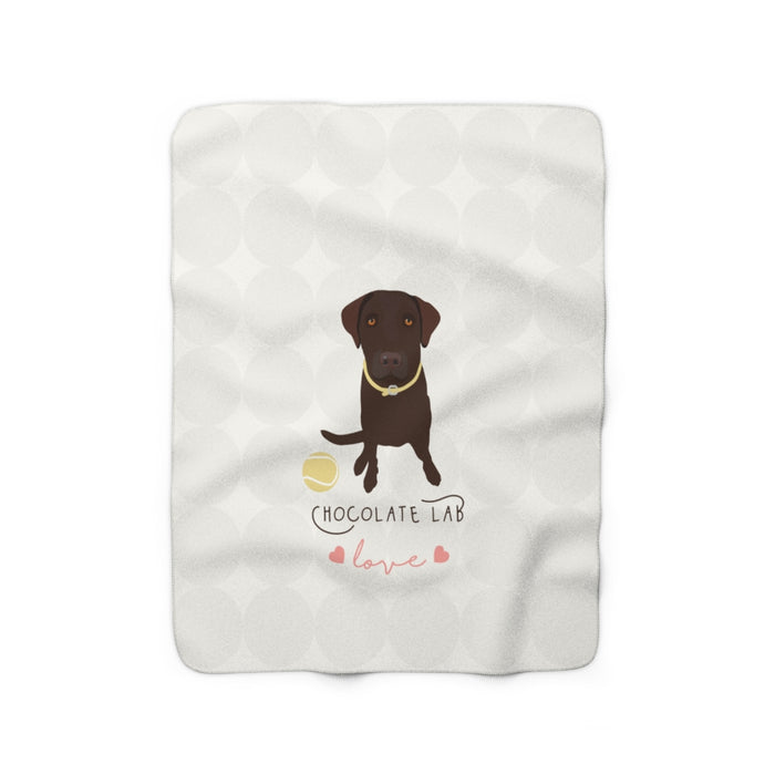 Chocolate Lab Love Sherpa Fleece Blanket