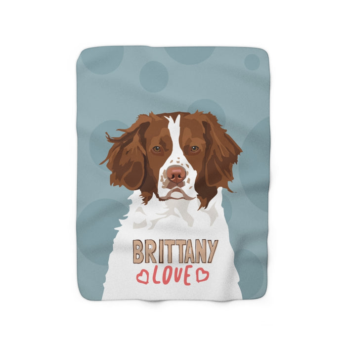 Brittany Love Sherpa Fleece Blanket