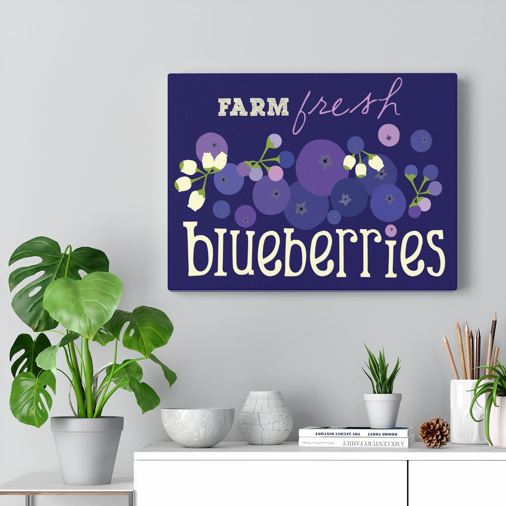 Farm Fresh Blueberries Canvas Gallery Wrap