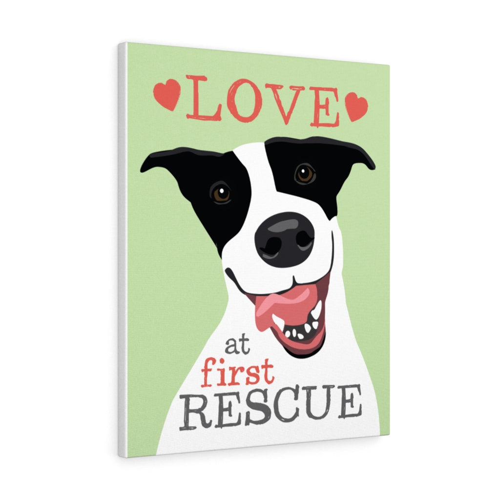 Love at First Rescue Gallery Wrap